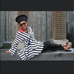 Black and White Stripe Jacket